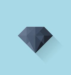 Flat web icon Black diamond vector image