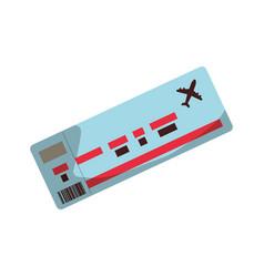 flight ticket paper vector image