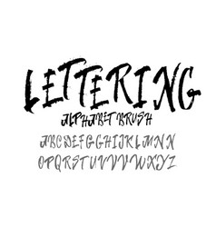 font drawn on the basis of handwriting calligraphy vector image