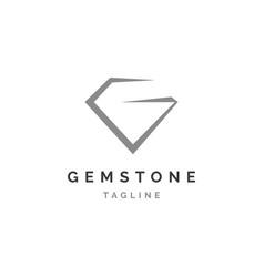 gemstone letter g logo design vector image