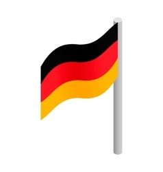 Germany flag isometric 3d icon vector image