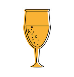 glass of champagne icon image vector image