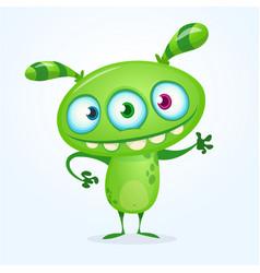 green alien character vector image