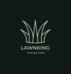 green grass king logo vector image