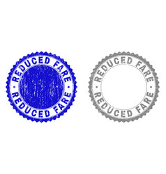 Grunge reduced fare scratched watermarks vector