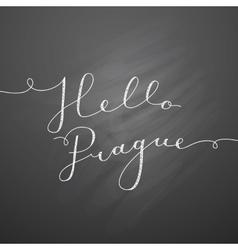 Hello prague lettering vector