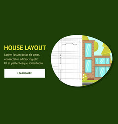 House layout web page template vector