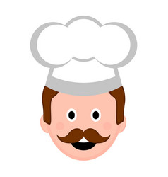 isolated male chef avatar vector image