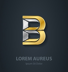 Letter B Template for company logo 3d Design vector