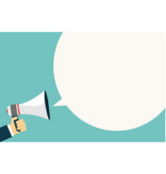 loudspeaker advertisement isolated vector image