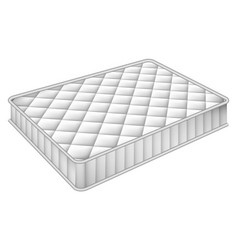 Mattress bed mockup realistic style vector