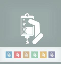 medical drip bag vector image