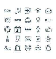 New icons set collection of garland wedding vector