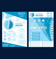 Orthopedics spine health center brochure vector