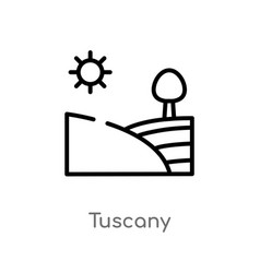 Outline tuscany icon isolated black simple line vector