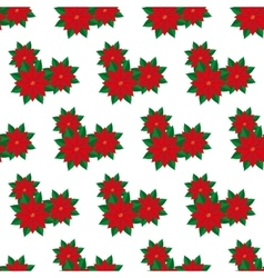 Poinsettia flower pattern vector image