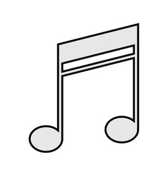 quaver music note icon vector image