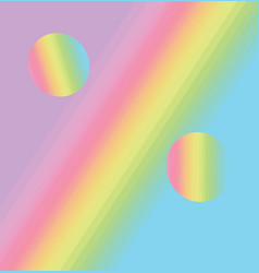 rainbow stripes gradient percent sign pastel vector image