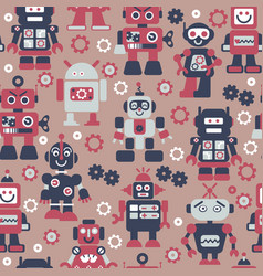 Robotrs color seamless pattern vector