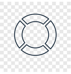 Rubber ring concept linear icon isolated on vector