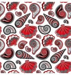 Sea seamless pattern Original hand drawn vector image