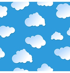 seamless cute cartoon paper or plastic clouds sky vector image vector image