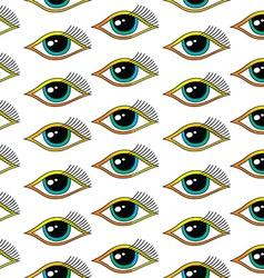 seamless one eye pattern vector image