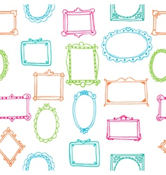 Seamless pattern with colorful frames vector