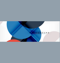 semi circle abstract background modern geometric vector image