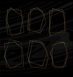 set geometric art deco frames for wedding vector image