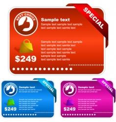 set of sale banner vector image vector image