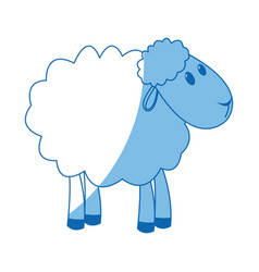 Sheep manger animal character christmas vector