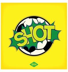 Shot - comic speech bubble vector image