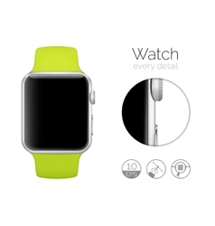 Smart watch isolated vector image