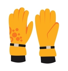 Snowboard sport clothes glove elements vector