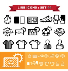 Soccer football Line icons set 44 vector