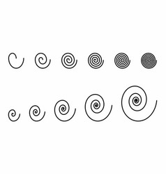 spirals set vector image
