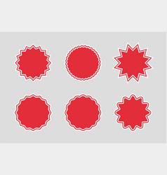 sunburst sale badges promo sale starburst label vector image