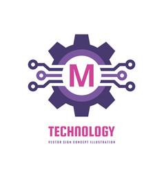 Technology letter m - logo template concept vector
