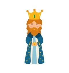 Three wise man cartoon vector image