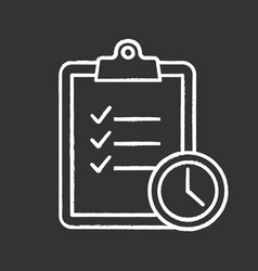 Time management chalk icon vector