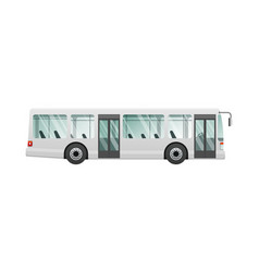 Transport picture isolated urban public bus vector