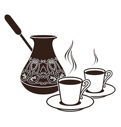 Turkish coffee vector image