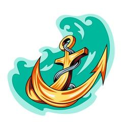 Vintage anchor icon vector