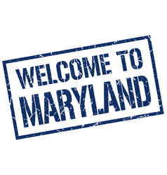 welcome to maryland stamp vector image