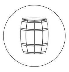 wine or beer barrels black icon in circle vector image