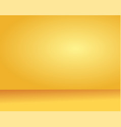 yellow background abstract gradient studio and vector image