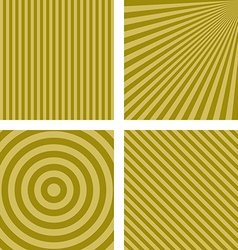 Yellow striped pattern background set vector