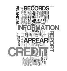 Your credit history what gets reported and what vector