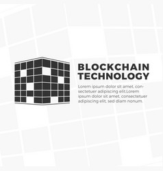 blockchain technology logo vector image